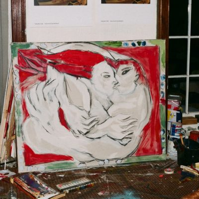 Work In Progress Shot of 'The Kiss'